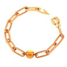 New Rebecca Smoky Quartz Beaded Satin Bracelet