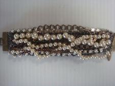 NWOT FENTON FALLON  J. Crew  mixed pearl Chain Bracelet