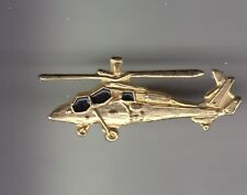 RARE PINS PIN'S .. AVION PLANE HELICOPTERE HELICOPTER ARMEE ARMY APACHE OR 3D~CZ