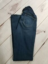 Indigo Blue Maternity Jeans Dark Wash Bootcut Secret Belly Band Size M Inseam 33