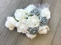 Flower corsage Mother of the Bride .. foam roses .. wedding pin ... Buttonhole