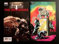 Death Of The Inhumans 5 Main + Mike Del Mundo Young Guns Variant Marvel 2018 NM+