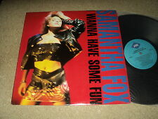 "@ SAMANTHA FOX 33 TOURS LP 12 "" CANADA I WANNA HAVE SOME FUN LOVE HOUSE"