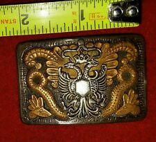 British 1st Kings Dragoon Guards Silver Belt Buckle