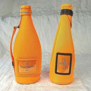 2 Veuve Clicquot Champagne Bottle Travel Carry Bag Case Ice Jacket Cover Sleeve