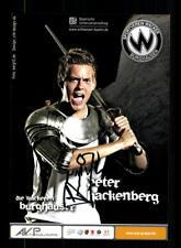 Peter Hackenberg Autogrammkarte Wacker Burghausen 2010-11 Original Signiert