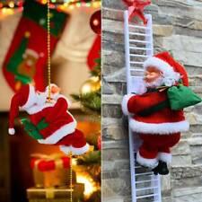 Electric Climbing Ladder/Rope Santa Claus Xmas Tree Doll Christmas Ornaments US