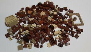 LEGO 250x Kiloware teile Sondersteile braun beige ritter star wars burg @31