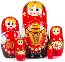 Nesting Dolls with Samovar Russian Doll Matryoshka Hand Painted Russia