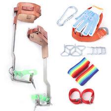 2x Tree Climbing Spike Kit Stainless Steel Safety Belt Straps Rescue Belt Gloves