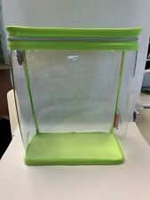 Clinique Makeup Skincare Plastic Travel Gift Bag With Handle Clear/Green