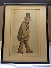 """""""The Sanitary"""" Vanity Fair caricature of Sir WA Fraser c 1875 by  """"Ape"""""""