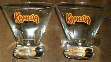 DRINKING GLASS HIGHBALL KAHLUA BROWN COW FUNNEL SHAPE