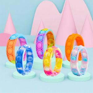 Popit Fidget Bracelet Toys Children Dimple Wristband Push Bubble Anti Stress Toy