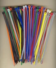 "100 7"" Inch Long 50# Pound Nylon Cable Ties 10 COLORS Zip Tie Ty Wrap MADE USA"