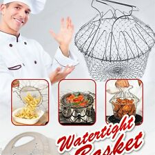 12 in 1 Chef Basket Strainer Kitchen Cooking Tool Foldable Steam Rinse Strain