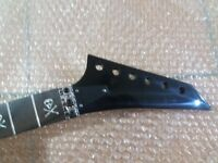 Electric Guitar Neck  24 Fret Maple Replacement for ESP style  skeleton inlay