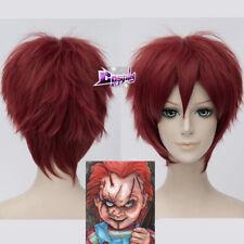 Child's Play Chucky Red Short Anime Cosplay Wig Halloween Hair Heat Resistnat