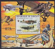 Dschibuti Block 7, Flugzeuge Propellermaschinen, gest., used