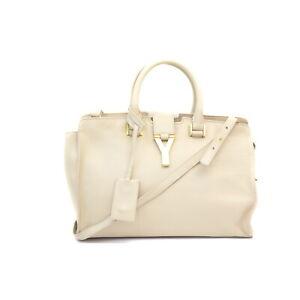 Saint Laurent Hand Bag  Beiges Leather 1418014