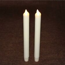 Luminara Dancing Wick Wine Red Ivory Taper/dinner Candle Real Wax With Timer 8""