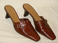 Naturalizer Hyper Womens Brown Leather Slide Mule Shoe - Size 7M