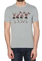 Original Penguin Mens T-Shirt Gray Medium M Beer Cheerleader Graphic Tee $39 043