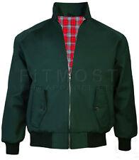Harrington Jacket Men's Classic Vintage Retro Scooter 1970'S Bomber Trendy Coat