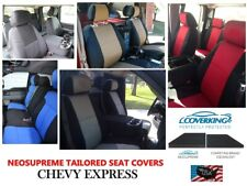 Chevy Express Coverking Custom Tailored Front Neosupreme Front Seat Covers