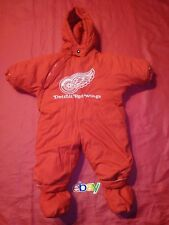 RARE NHL WINNING GOAL DETROIT RED WINGS  SNOWSUIT BOYS 6 - 9 MONTHS RED WOW !!