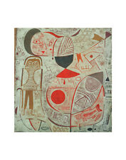 Printed Sheet with Pictures 1937 Paul Klee Abstract Face Print Poster 11x14