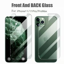 For iPhone 11/11Pro/11 Pro Max Front and Back 360 Clear Tempered Glass Protector