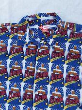 MR CLEAN Target vintage 2000s logo blue camp collar cotton shirt LARGE
