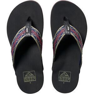 Reef Mens Newport Woven Summer Holiday Beach Flip Flops Sandals - 10 US