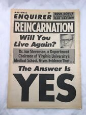National Enquirer December 17 1967 Reincarnation Front Cover Tabloid Newspaper