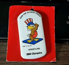 1984 Los Angeles Summer Xxiii Olympics Button Pin - Wrestling