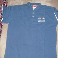 NEW NFL Seattle Seahawks Golf Polo Shirt Men 2XL XXL NEW NWT