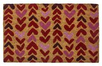 "DOOR MATS - ""LOVING HEARTS"" COIR DOORMAT - HEART WELCOME MAT"