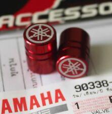 YAMAHA GENUINE WHEEL VALVE DUST CAP SET OF TWO PLAIN RED