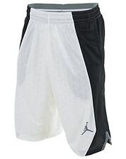 Jordan NIKE FLIGHT KNIT Basketball Shorts men SMALL NWT WHITE BLACK 820645