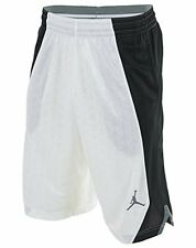 Jordan NIKE FLIGHT KNIT Basketball Shorts men SIZE MEDIUM NWT WHITE BLACK 820645