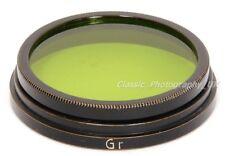 Leica Gr A36 Filtre Vert par E. LEITZ Wetzlar pour Summar 1:2 f = 5 cm & Elmar 3.5/50