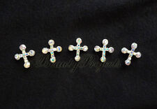(5pcs) nail art 3D crystal cross charm rhinestone charms acrylic nails gel A203
