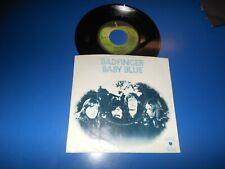 Rare 70's 45 RPM BADFINGER BABY BLUE  On Apple Records With Picture Sleeve