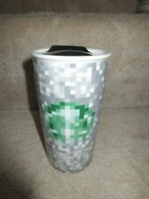 Starbucks Rodarte Minecraft Pixel Tumbler Travel Mug 12 oz Cup 2012 Ltd Ed