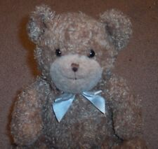 "Prestige Teddy Bear Brown Rattle Jingle Bell  8"" Seated Plush Soft Lovey Toy GUC"