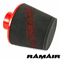 Ramair Large Aluminium Base Foam Air Filter Induction Intake 80Mm Od Neck In Red