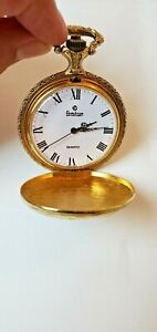 Vintage Armitron Mother & Baby Deer Gold Tone Pocket Watch No Chain NEW Battery
