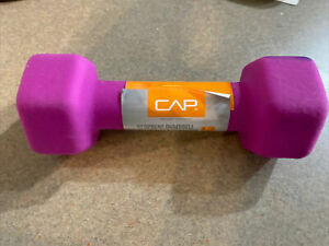 NEW CAP 5 lb Dumbbell Neoprene Coated Hex Free Weight Dumb Bell Gym 5lb Pound