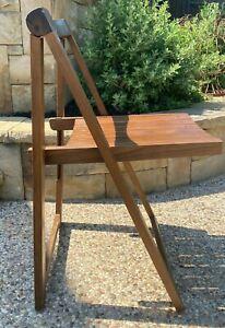 MCM Trieste Wood Folding Chair Italian ALDO JACOBER Style Mid Century YUGOSLAVIA
